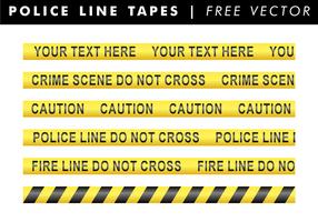 Polizei-Linie Bänder Freier Vektor