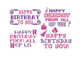 Cute Birthday Label Set
