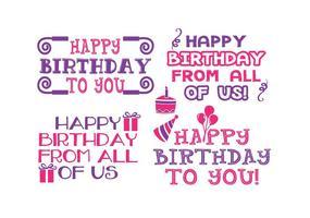 Cute Birthday Label Set vector