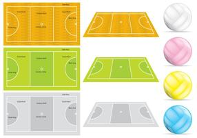 Netball Courts And Balls