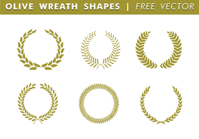 Olive Kranz Shapes Free Vector