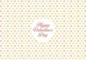 Valentine's day heart pattern background vector