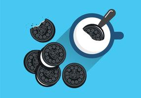 Oreo cookie vektorer