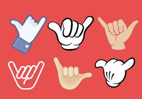 Shaka Handzeichen Vektoren