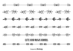 Cute Hand Drawn Style Borders vector