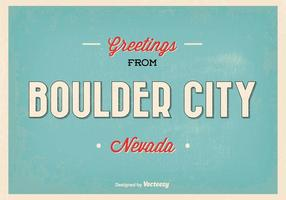 Retro Style Boulder City Greeting Illustration
