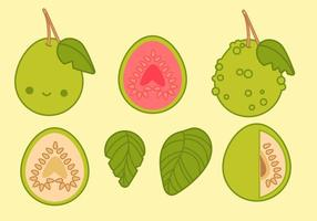 Cute Guava Vectors