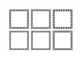 Cadres de style frontière clés grecques