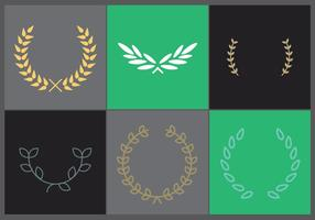 Olijfkrans Vector Set 1