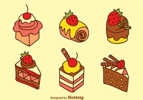 Sweet Cake Vector Set