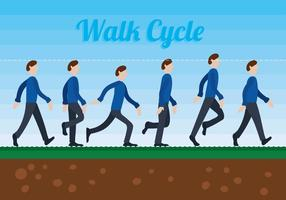Walk Cycle Vector