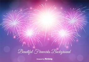 Beautiful Fireworks Background Illustration vector
