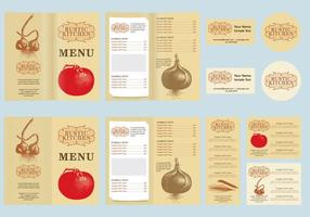 Vector de menu rustique