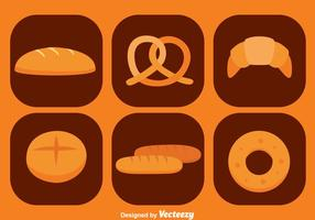 Icônes de pain vecteur