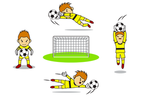 Gratis Goal Keeper Vector
