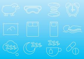Mattress And Sleep Icons