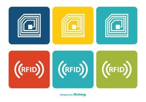 Set di icone colorate RFID