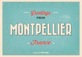Montpellier France Illustration de salutation