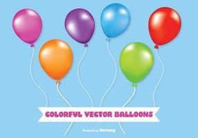 Globos coloridos del vector