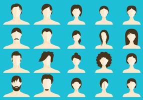 Women And Men Coiffures vector