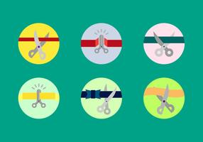 Gratis Scissors Cutting Ribbons Vector Pack