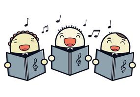 Free Choir Kids Vector Illustration