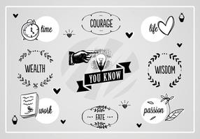 Free Wisdom Words Vector Background