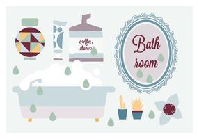 Elementos de baño gratis vector de fondo