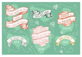 Fundo Motivacional de Motivational Hand Drawn Ribbons Collection
