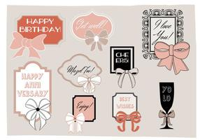 Free Greeting Frames Vector Background with Typography