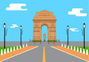 Gratis India Gate Vector