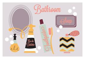 Bathroom Elements Vector Background