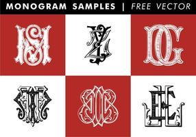 Monogram Samples Free Vector