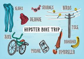 Hipster Adventure Vector Background