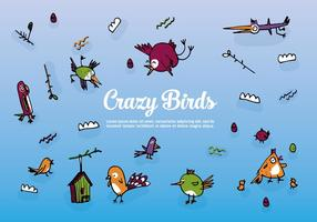 Free Set of Hand Drawn Birds Vector Background