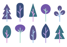 Vecteur d'arbres minimalistes gratuits
