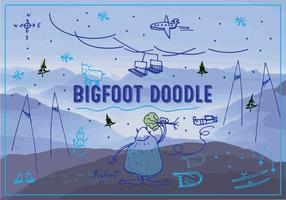 Bigfoot/Yeti Vector Background