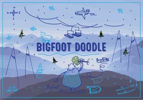 Bigfoot/Yeti Vector Background