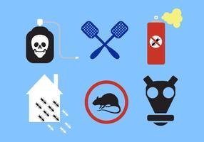 Vektor uppsättning skadedjurskontrollskyltar