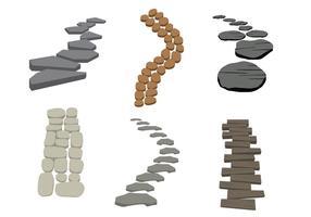 Stenväg vektor
