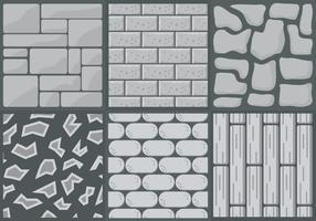 Colección de estilos de camino de piedra en Vector