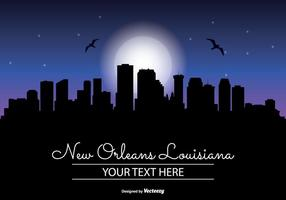 New Orleans Nacht Skyline