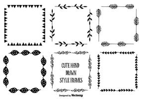Hand Drawn Style Frame Set vector