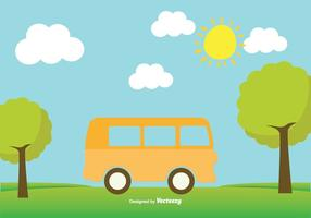 Jolie illustration de minibus