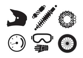 Vector Set of Motorcycle Elements