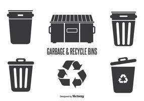 Garbage & Recycle Bins vector