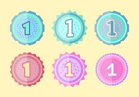 Free 1st Birthday Badges vector