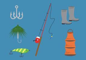 Vector de señuelo de la pesca