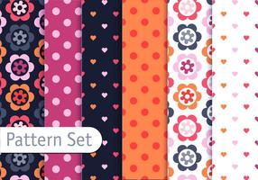 Romantic Colorful Pattern Set
