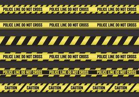 Conjunto de linhas policiais de vetores